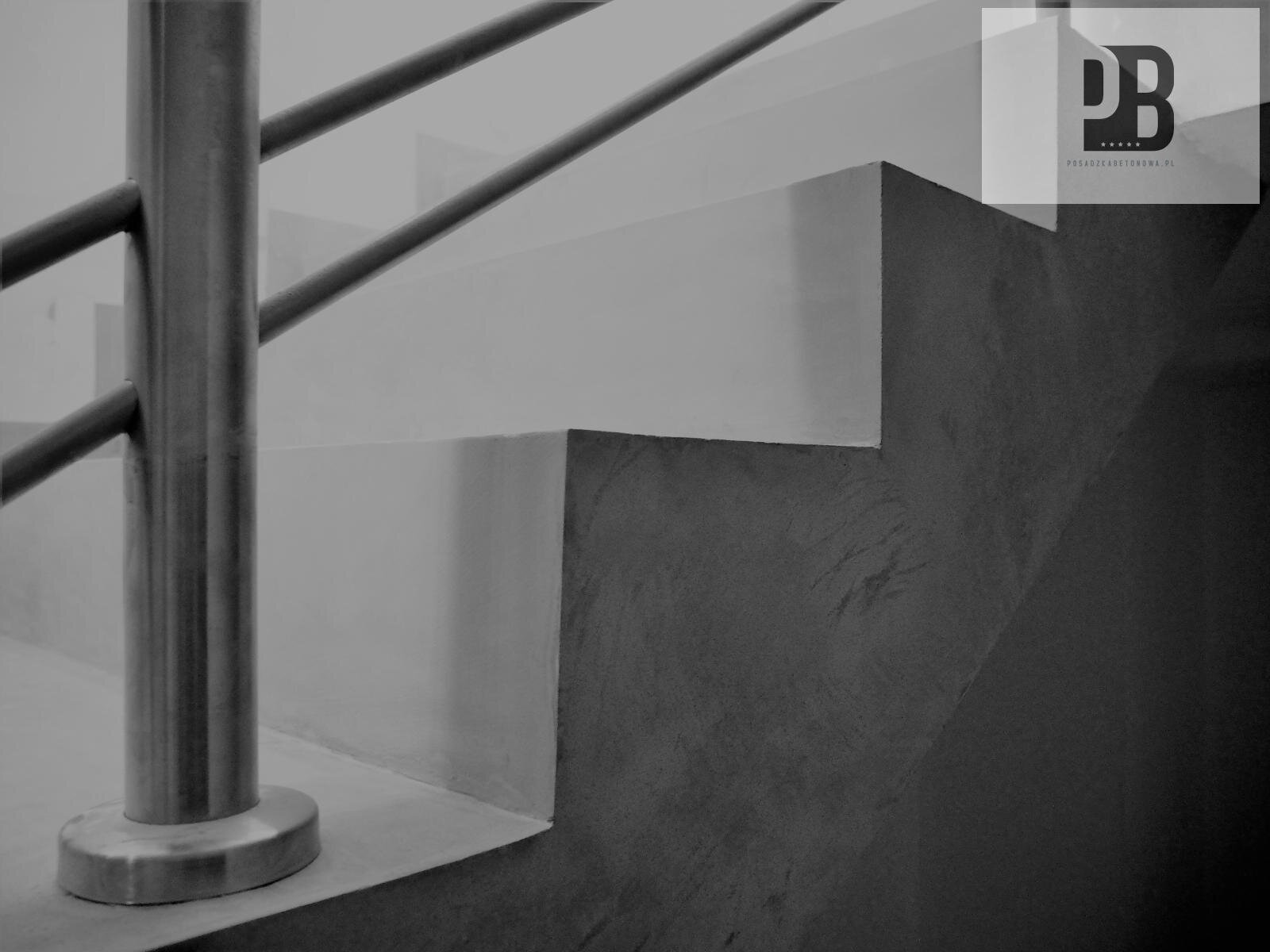 Schody dekoracyjne betonowe POSADZKA BETONOWA PL